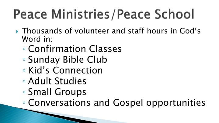 Peace Ministries/Peace School