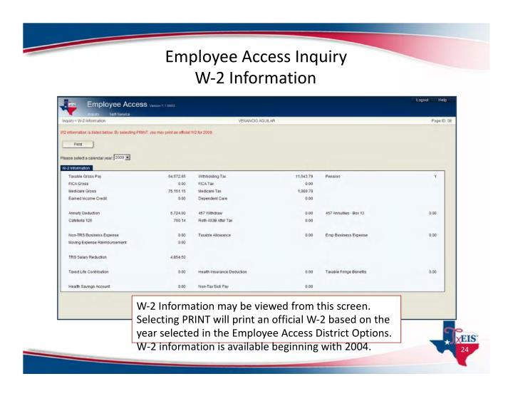 Employee Access Inquiry