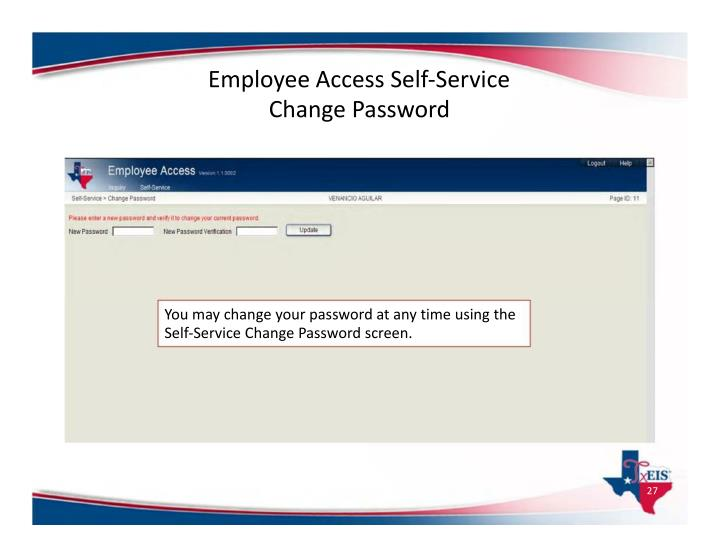 Employee Access Self‐Service