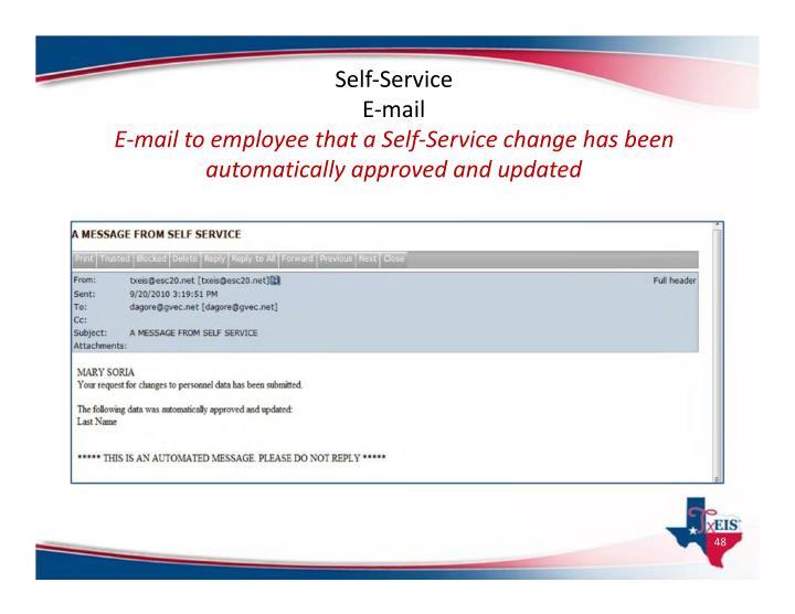 Self‐Service