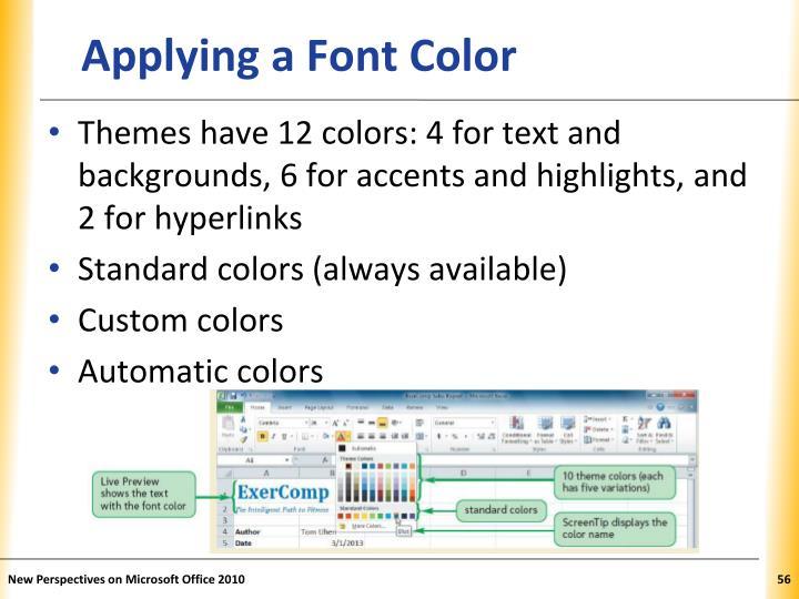 Applying a Font Color
