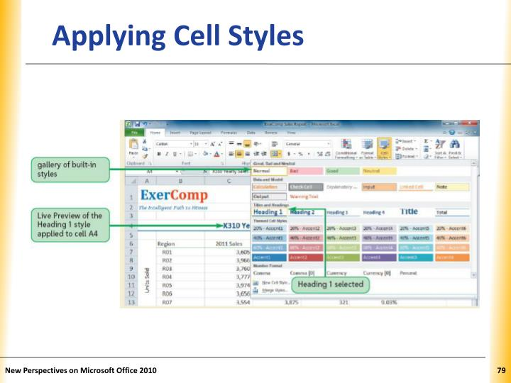 Applying Cell Styles