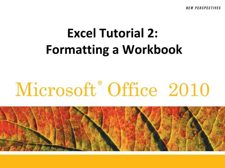 Excel Tutorial 2: