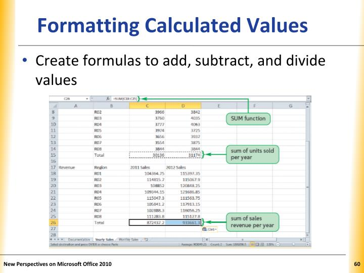 Formatting Calculated Values