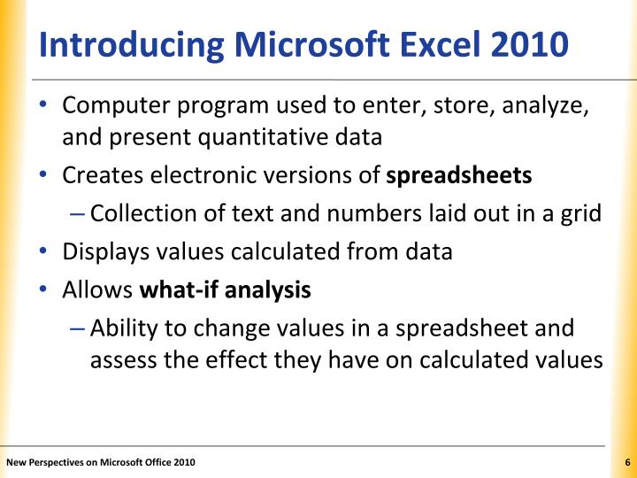 Introducing Microsoft Excel 2010