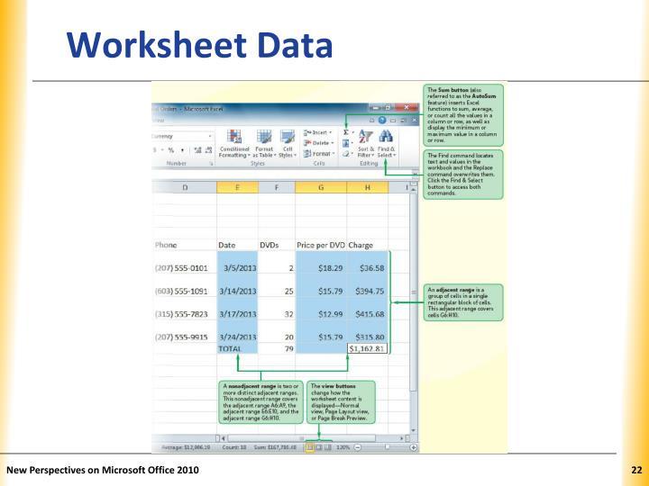 Worksheet Data