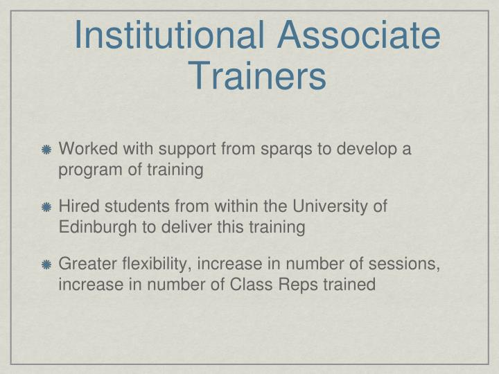 Institutional Associate Trainers