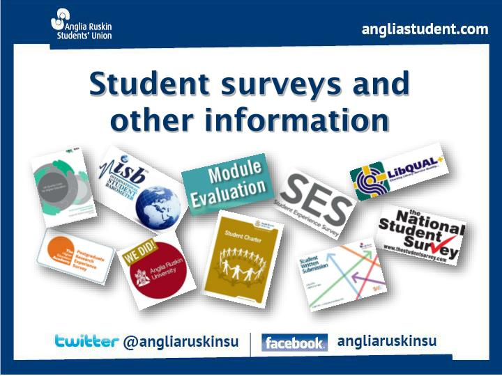 Student surveys and other information
