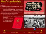 mao s leadership