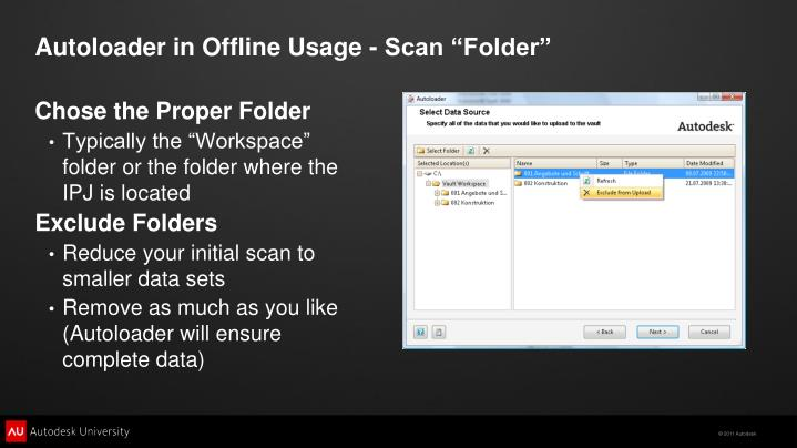 "Autoloader in Offline Usage - Scan ""Folder"""