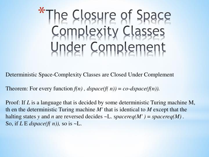 Deterministic Space-Complexity Classes are