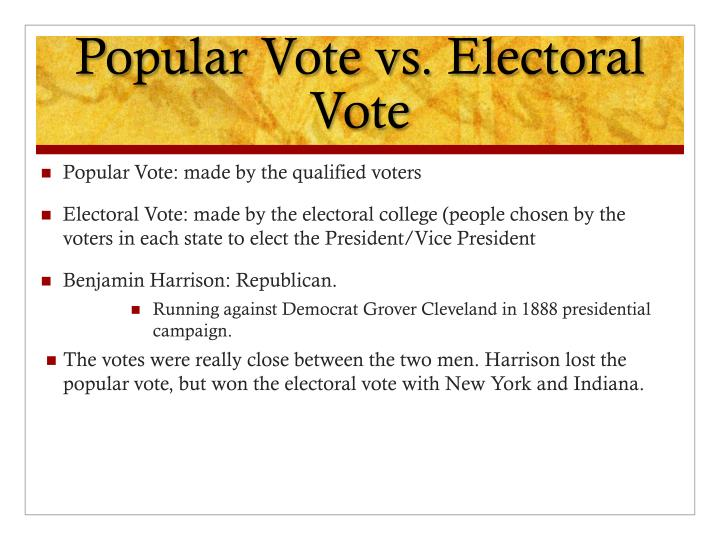 Popular Vote vs. Electoral Vote