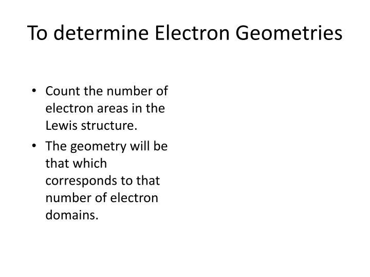To determine Electron