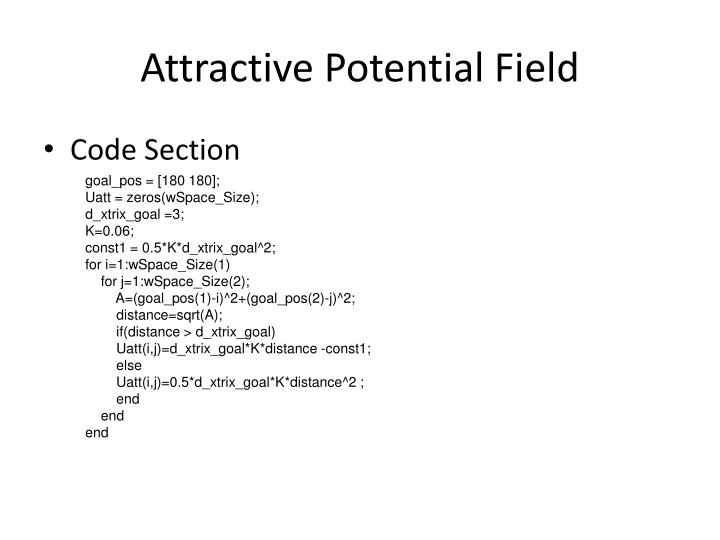 Attractive Potential Field