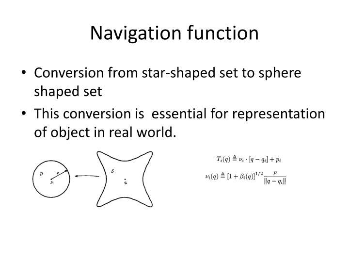 Navigation function