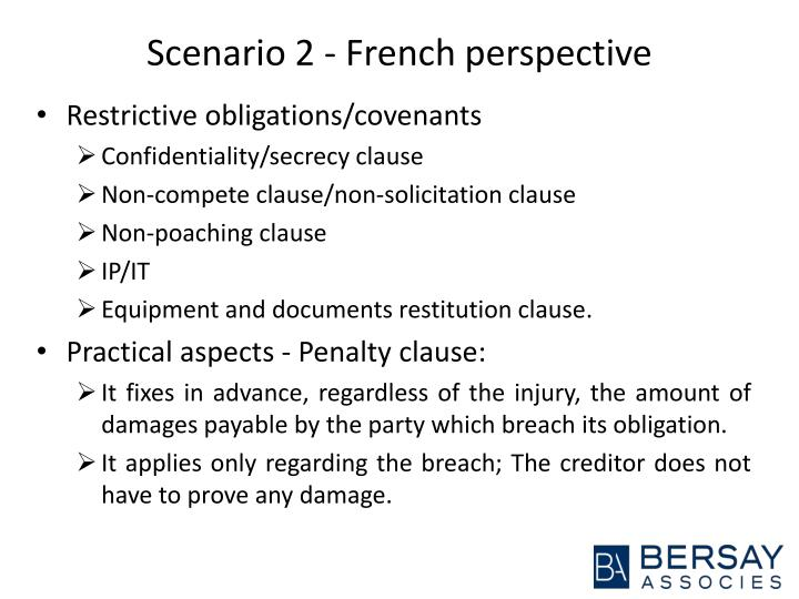 Scenario 2 - French perspective
