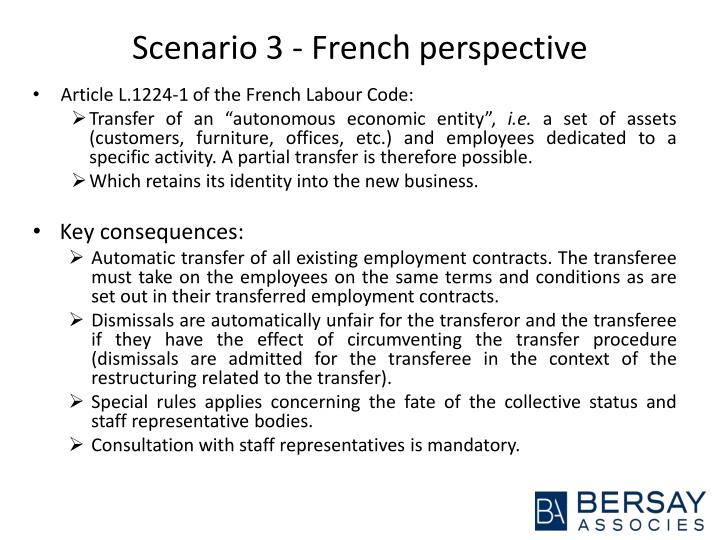 Scenario 3 - French perspective