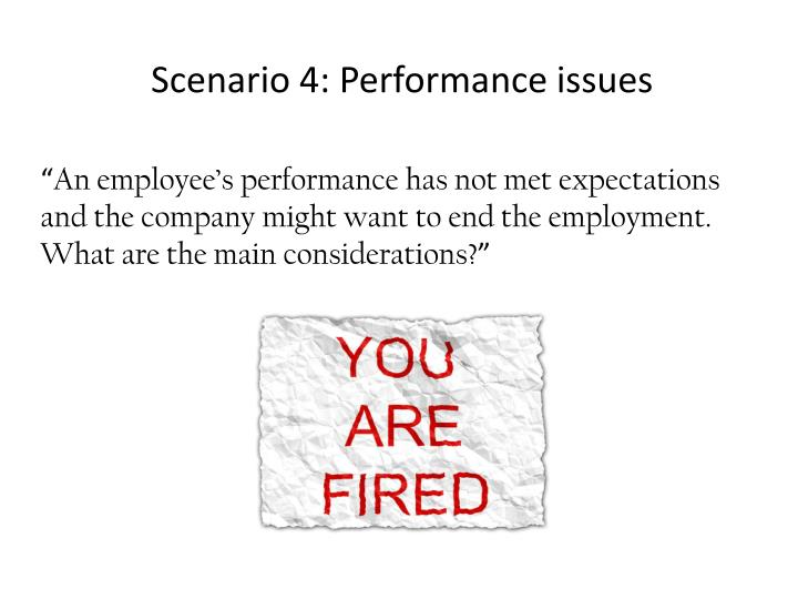 Scenario 4: Performance issues