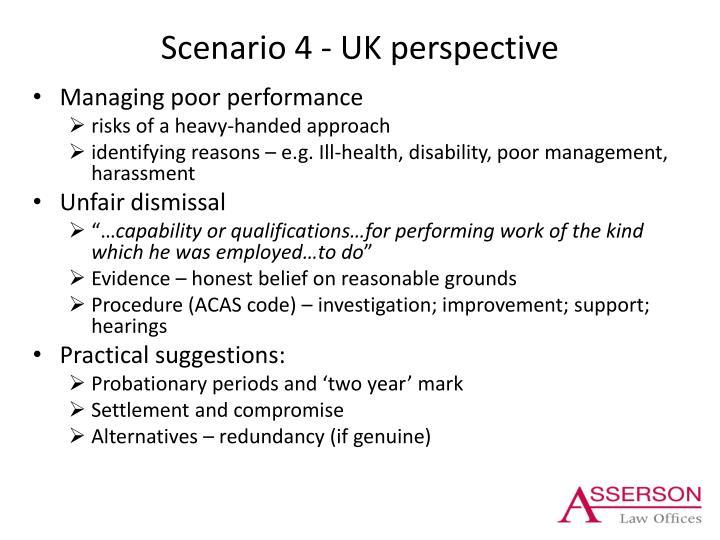 Scenario 4 - UK perspective