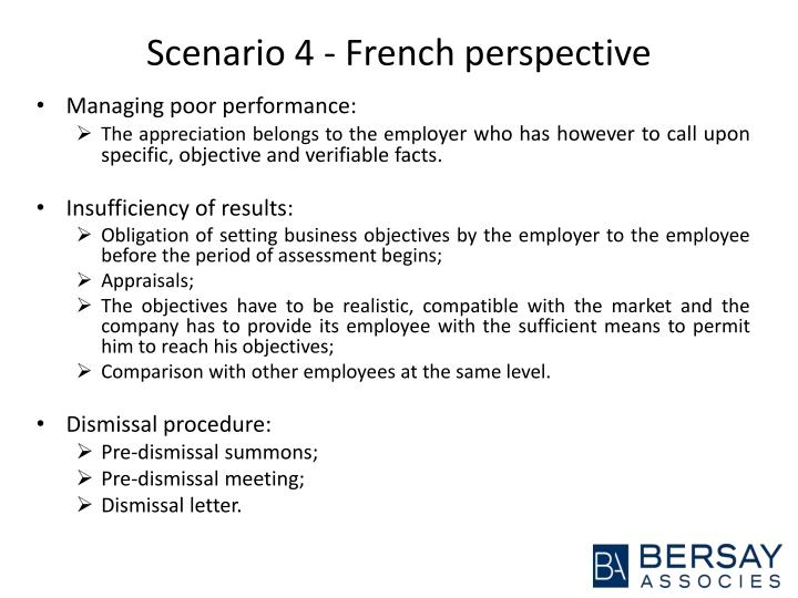 Scenario 4 - French perspective