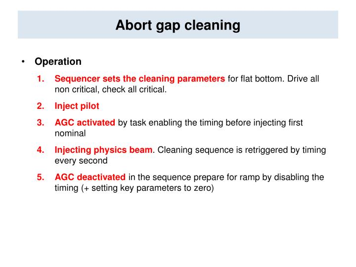 Abort gap cleaning