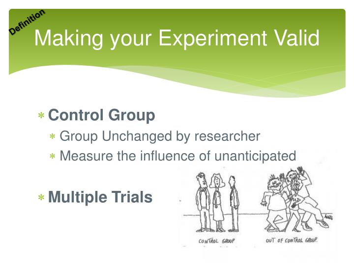 Making your Experiment