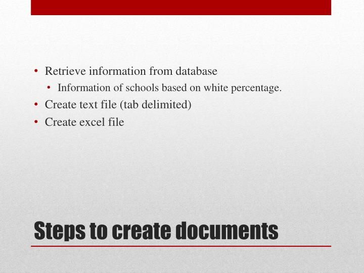 Retrieve information from database