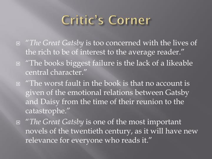 Critic's Corner