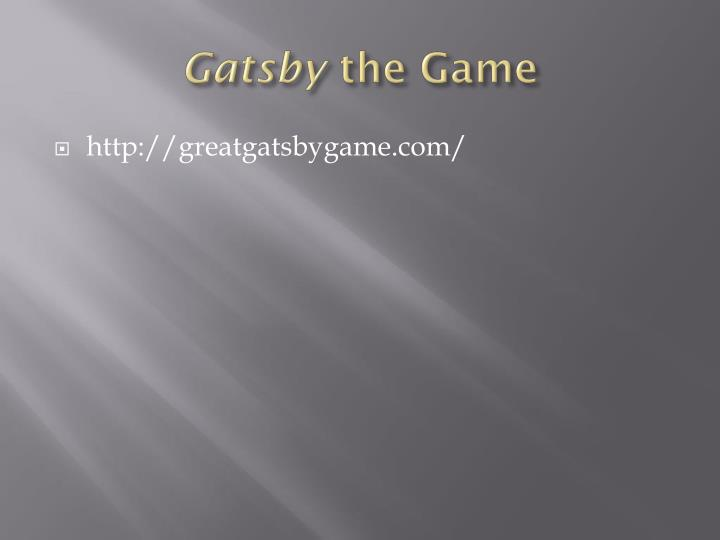 Gatsby the game