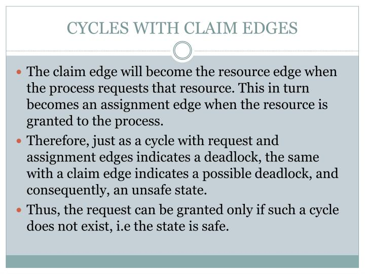 CYCLES WITH CLAIM EDGES