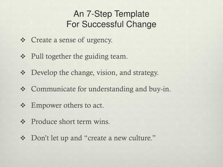 An 7-Step Template