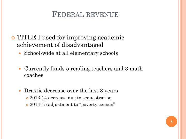 Federal revenue