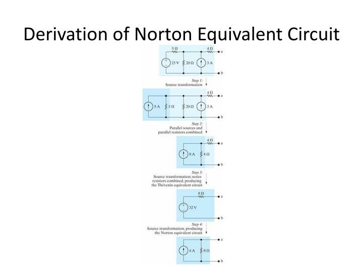 Derivation of Norton Equivalent Circuit