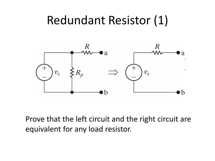 Redundant Resistor (1)