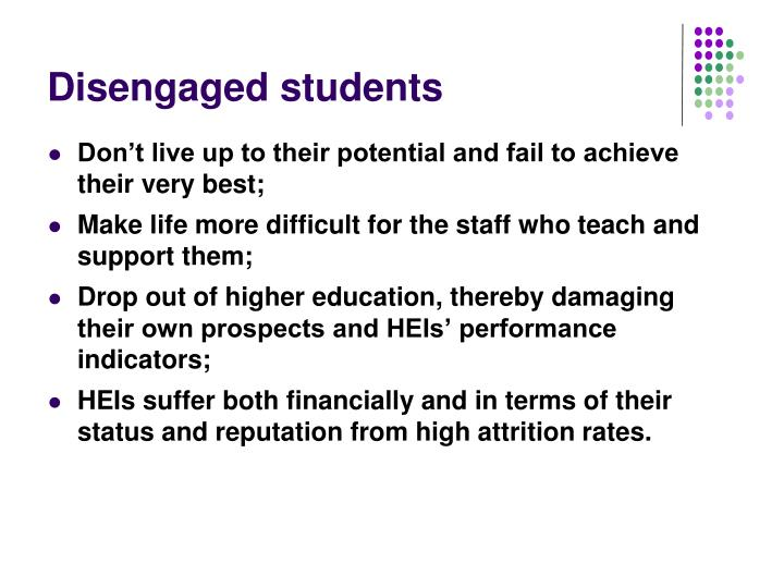 Disengaged students