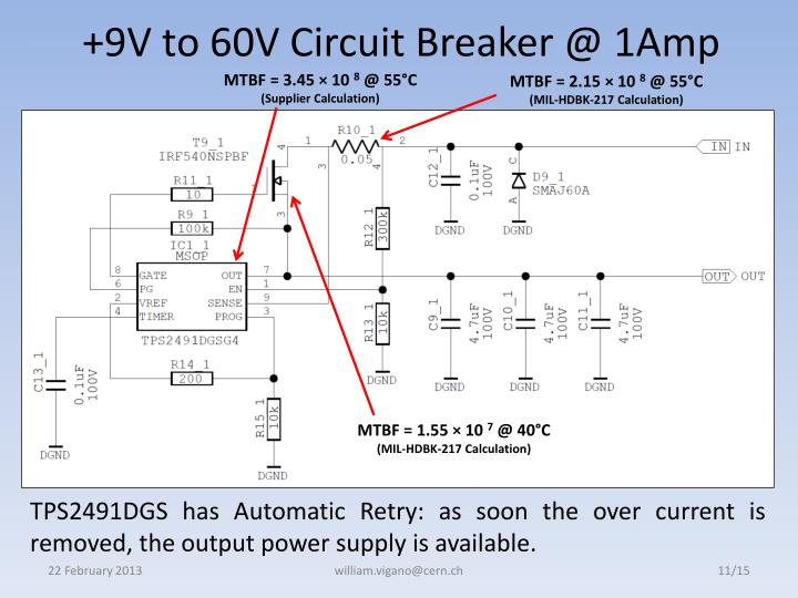 +9V to 60V Circuit Breaker @ 1Amp