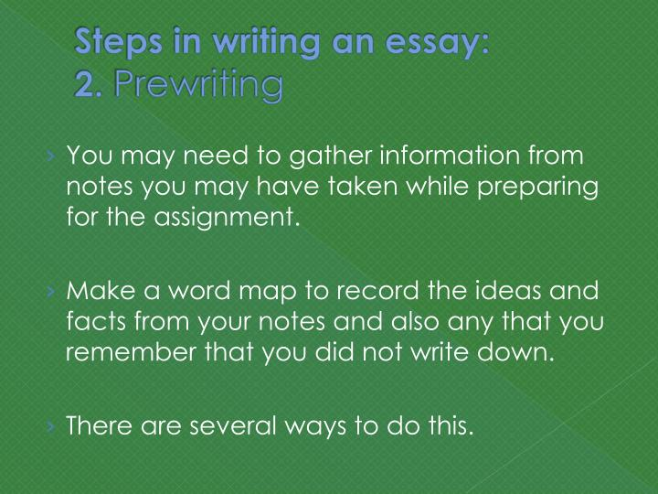 what steps do you take to write an essay