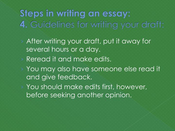 Essay writing steps ppt