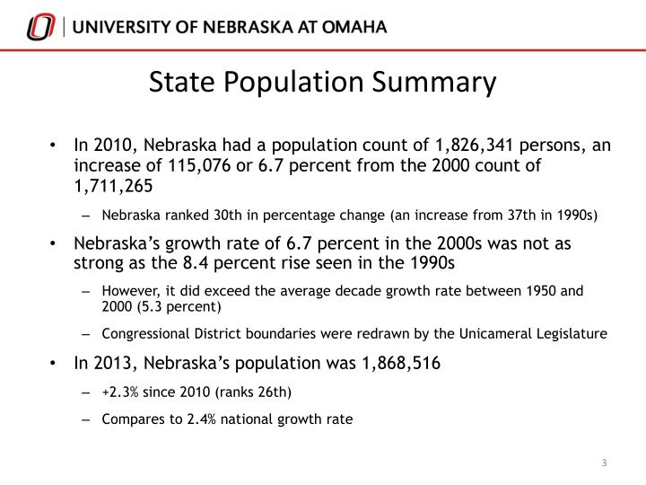 State Population Summary
