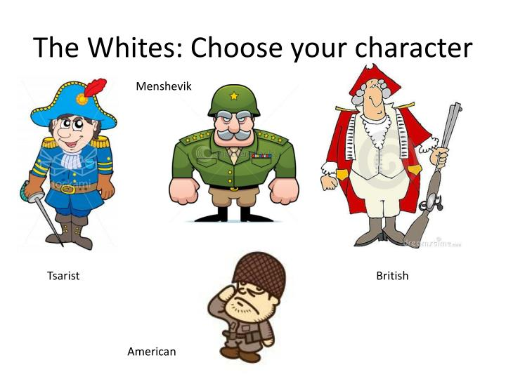 The Whites: Choose your character