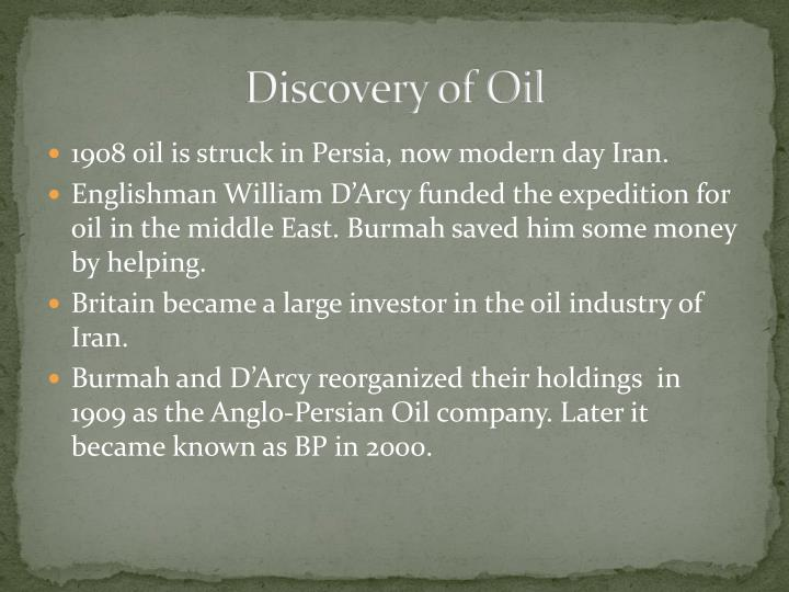 Discovery of Oil