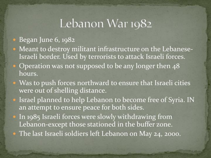 Lebanon War 1982