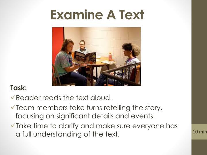 Examine A Text