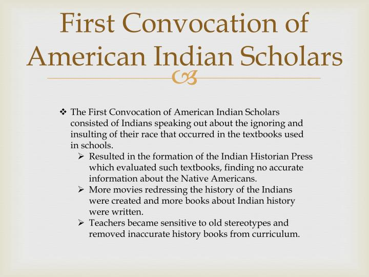 First Convocation of American Indian Scholars