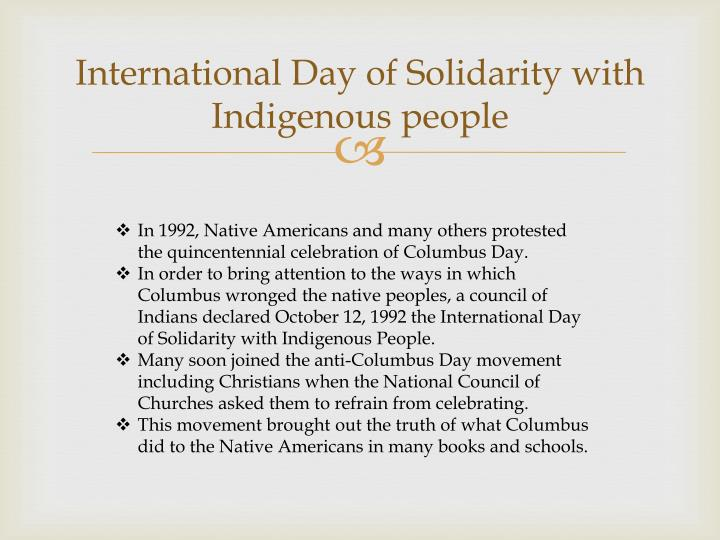 International Day of Solidarity with Indigenous people
