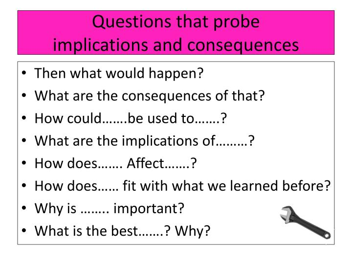 Questions that probe