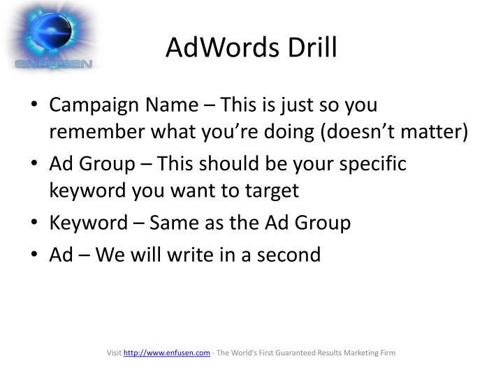 AdWords Drill