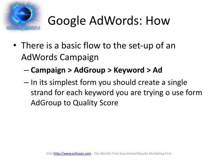 Google AdWords: How