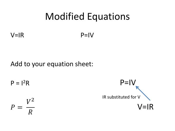 Modified Equations