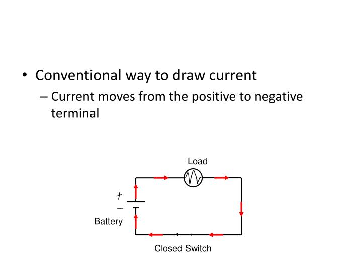Conventional way to draw current